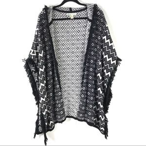 Kaisely Medium Hooded Poncho Cardigan